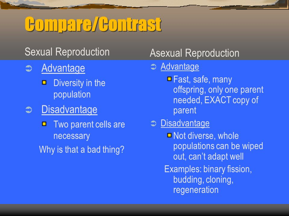 Advantages of fragmentation in asexual reproduction the offspring