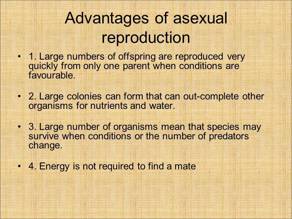 Science form 3 chapter 4 asexual reproduction advantages