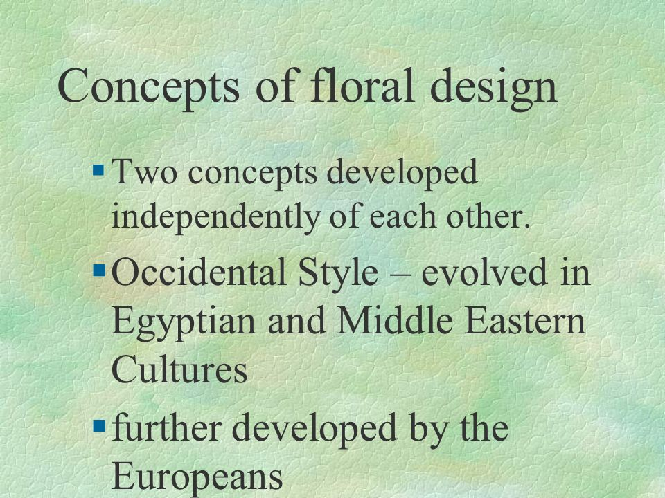Concepts of floral design