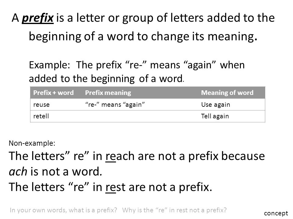 Use prefixes to determine the meaning of words.   ppt video online