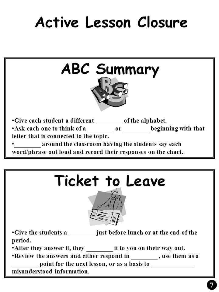 Window Pane Lecture Directions: As the teacher instructs the class