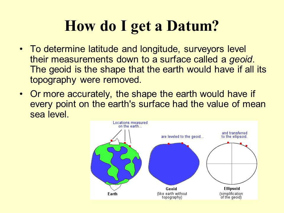 How do I get a Datum