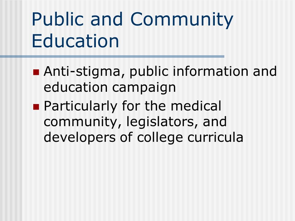 Public and Community Education