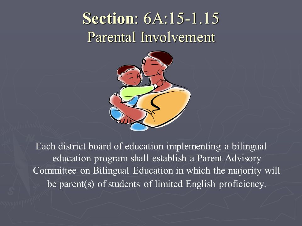 Section: 6A:15-1.15 Parental Involvement