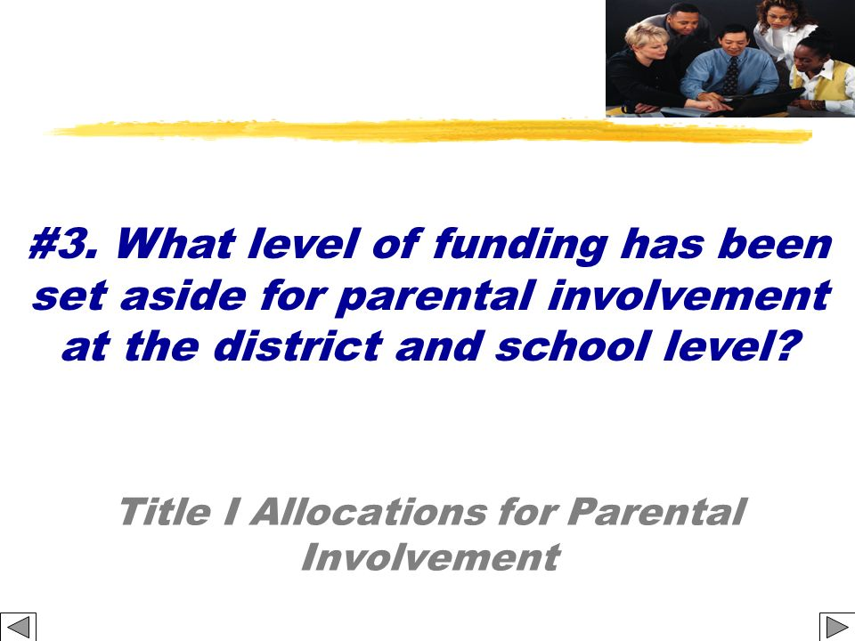 Title I Allocations for Parental Involvement