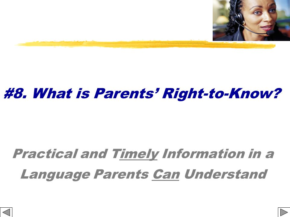 Practical and Timely Information in a Language Parents Can Understand