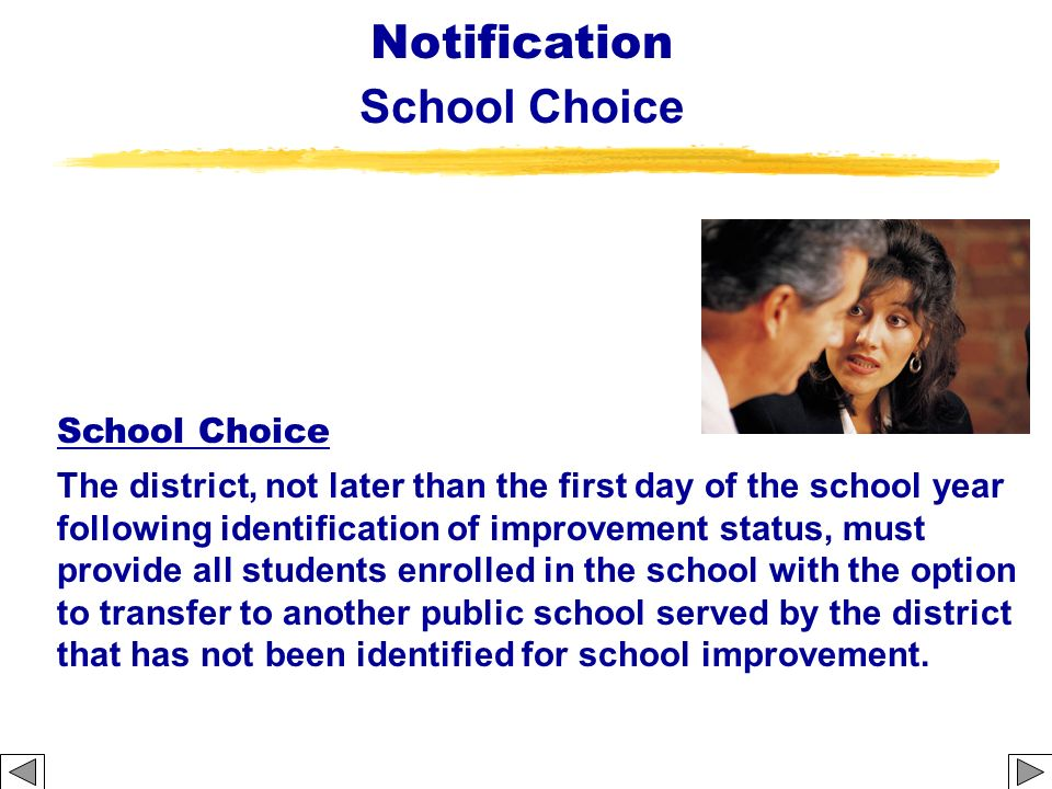 Notification School Choice School Choice