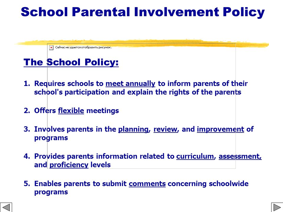 School Parental Involvement Policy