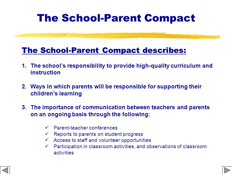 The School-Parent Compact