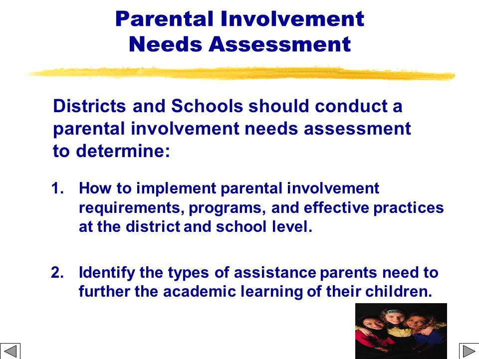 Parental Involvement Needs Assessment
