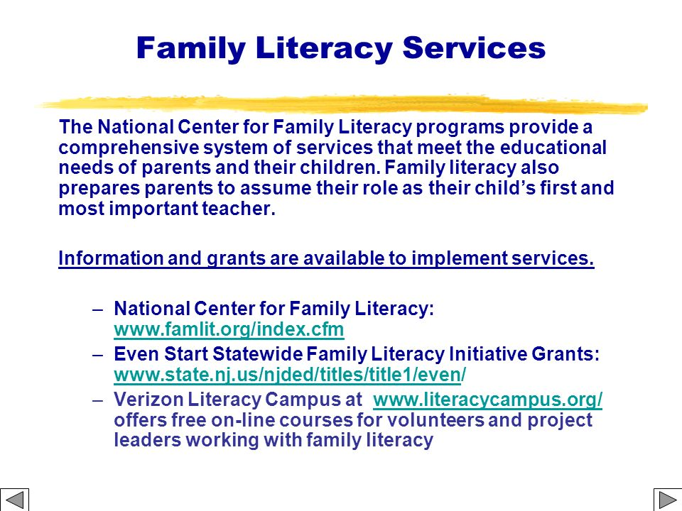 Family Literacy Services