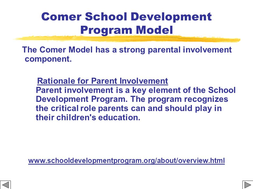Comer School Development Program Model