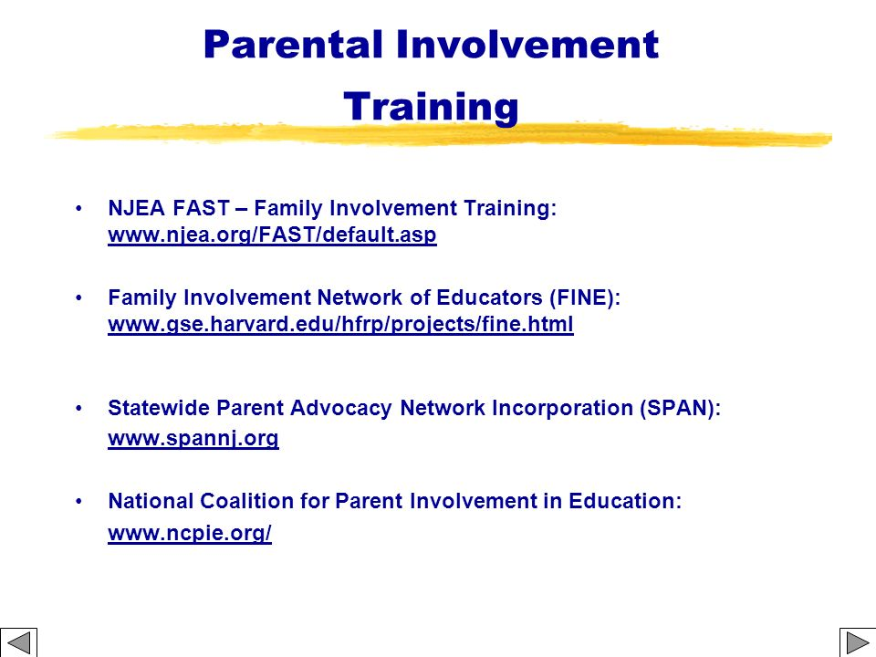 Parental Involvement Training