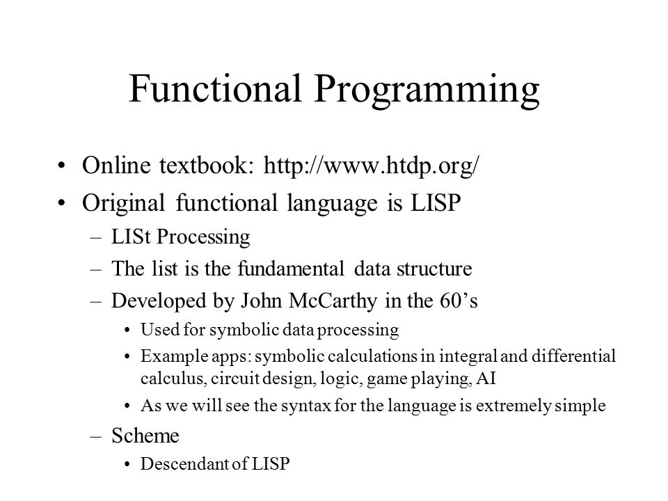 Functional Programming In Scheme Ppt Download