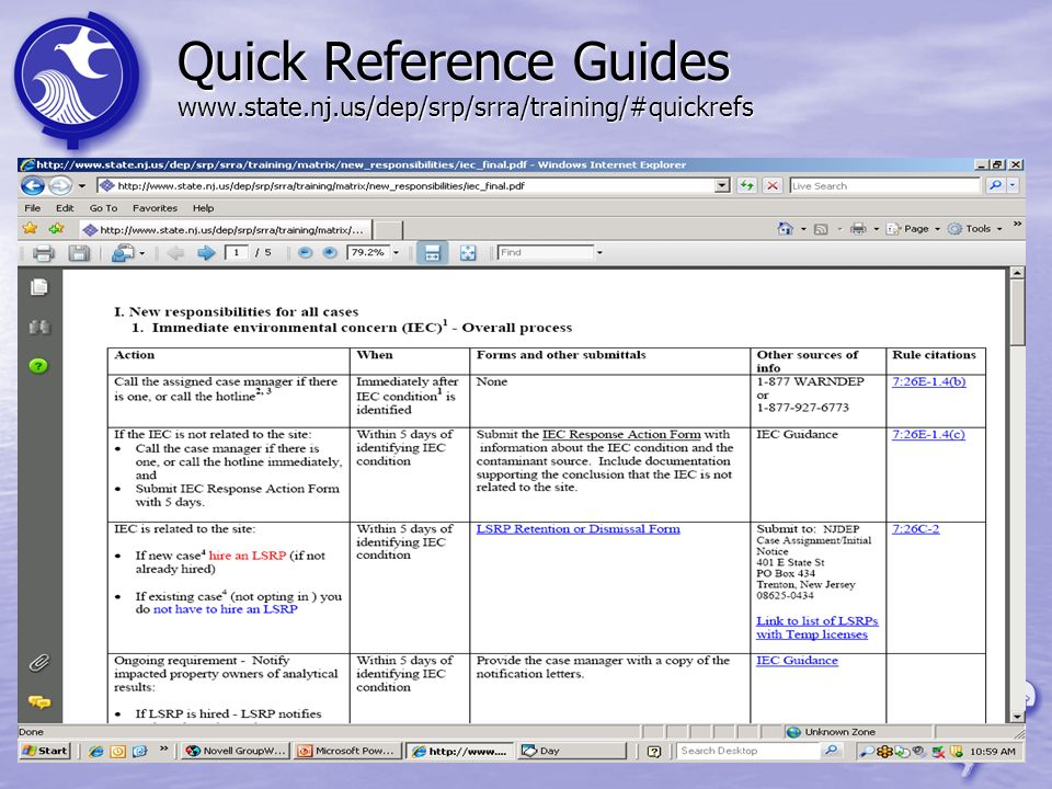 Quick Reference Guides www. state. nj