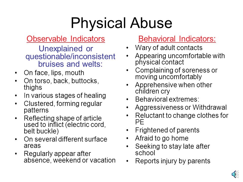 Physical Abuse Observable Indicators