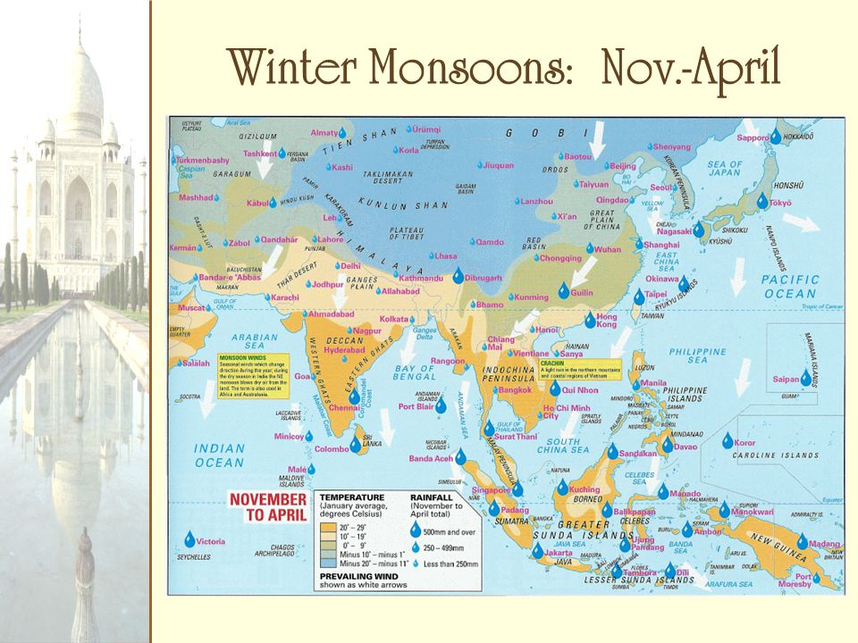 Winter Monsoons: Nov.-April