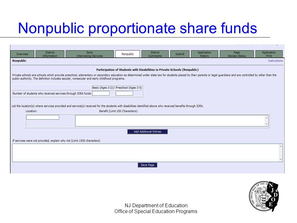 Nonpublic proportionate share funds