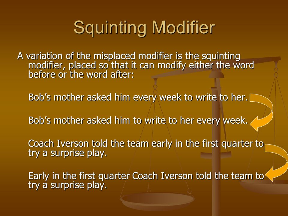 squinting modifier definition