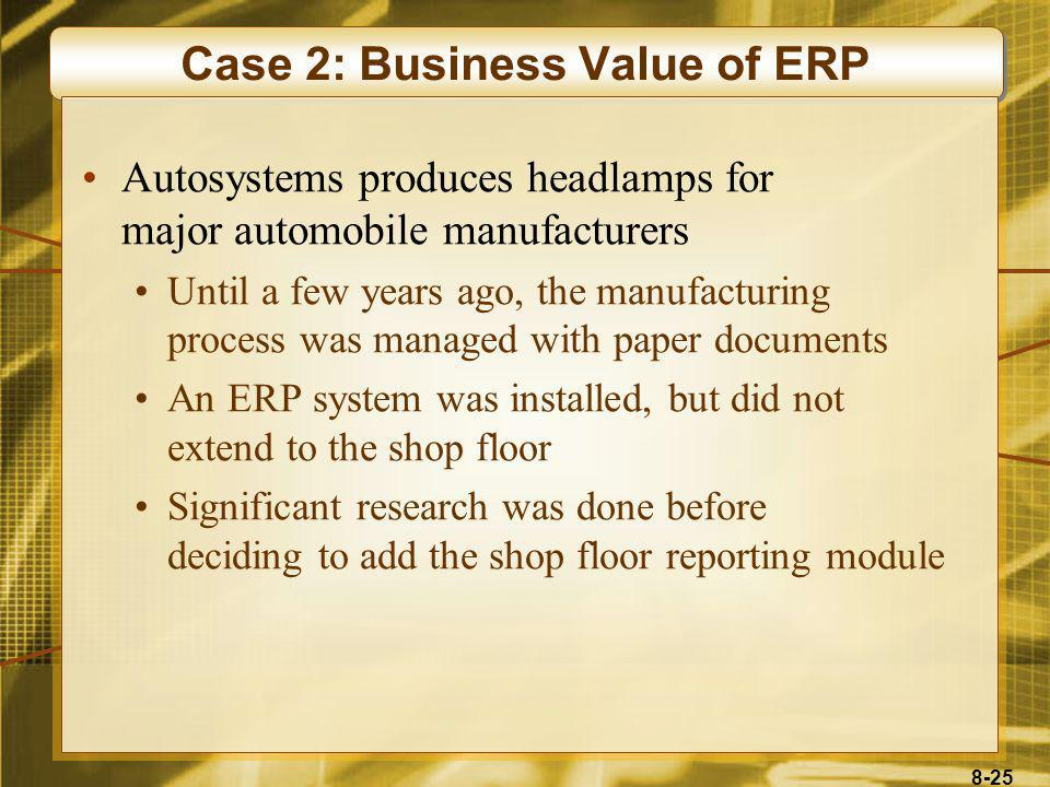 Case 2: Business Value of ERP