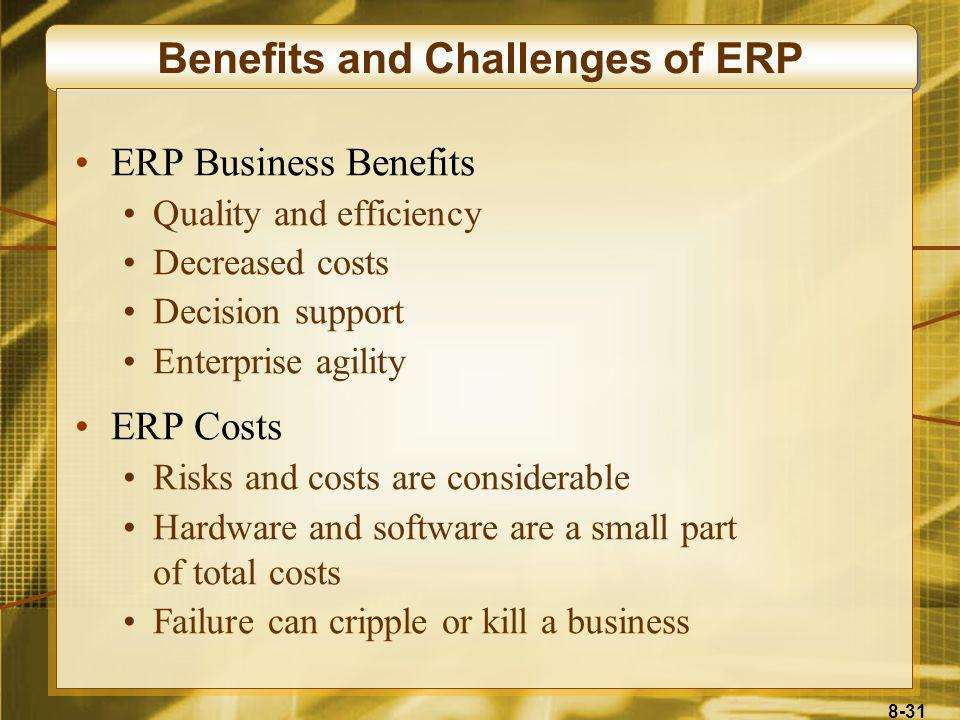 Benefits and Challenges of ERP