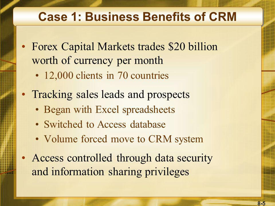 Case 1: Business Benefits of CRM