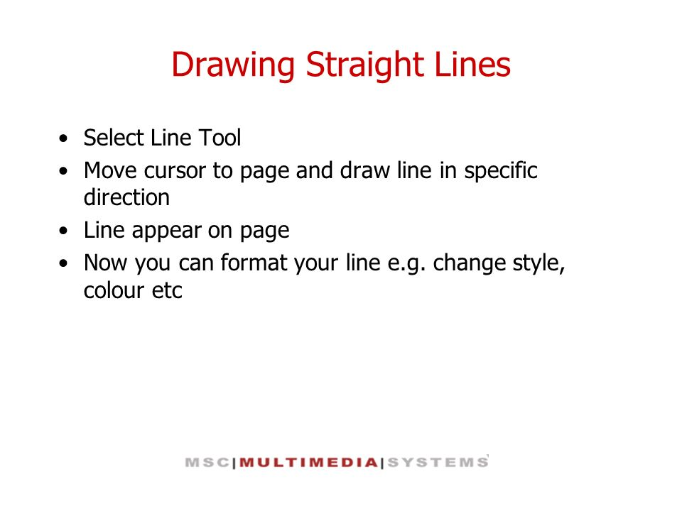 Drawing Straight Lines