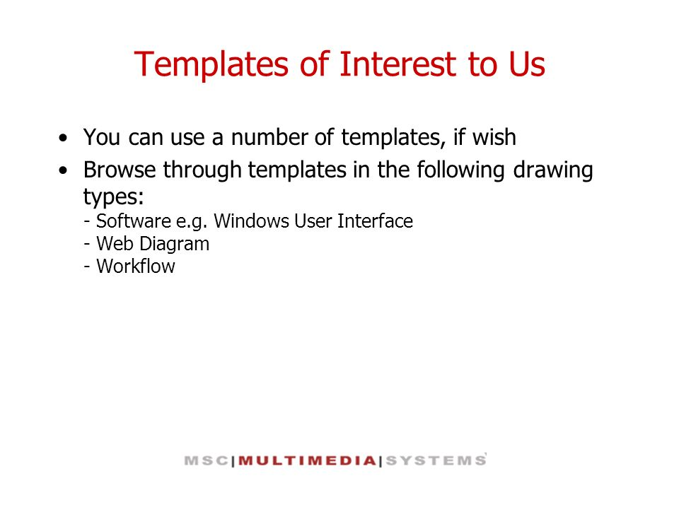 Templates of Interest to Us