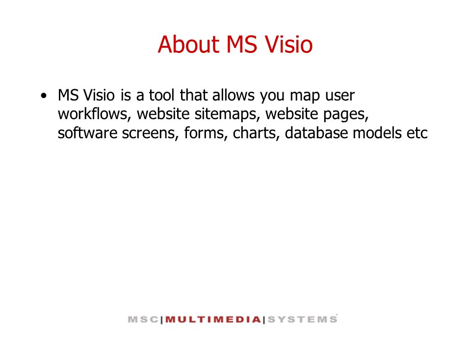 About MS Visio