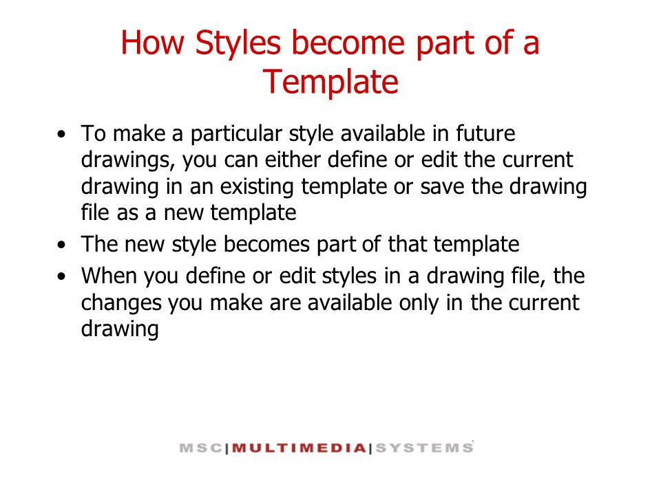 How Styles become part of a Template
