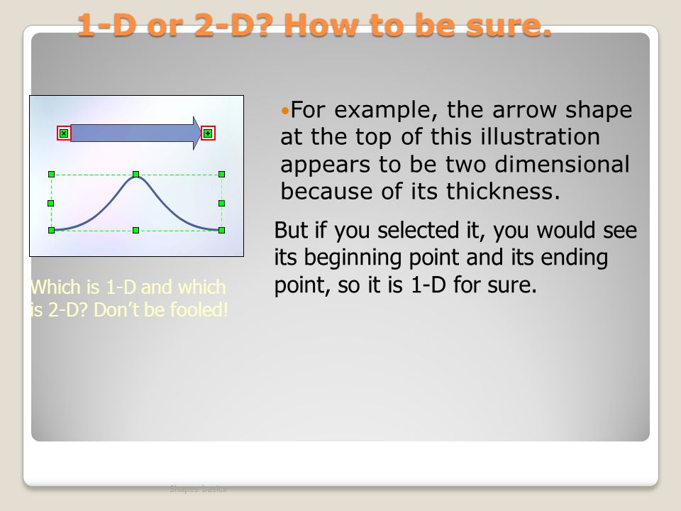 1-D or 2-D How to be sure.