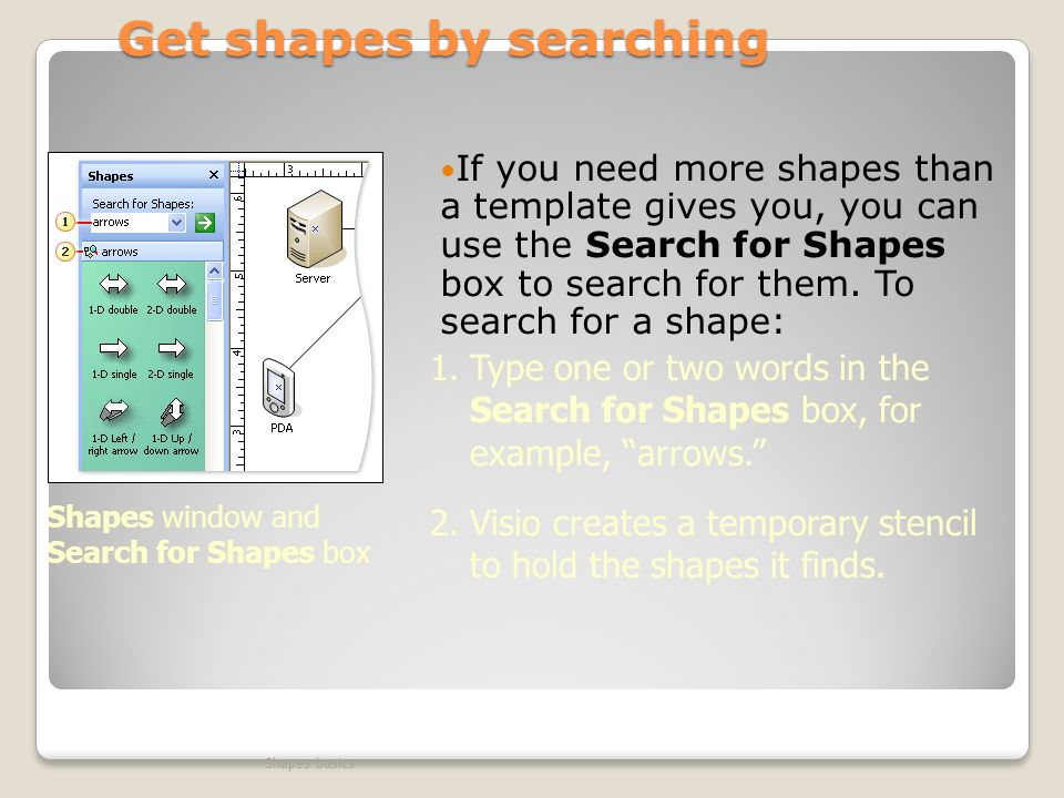 Get shapes by searching