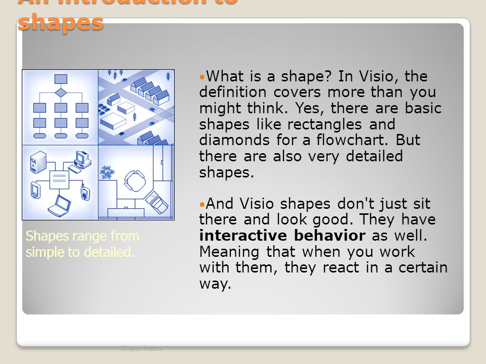 Visio Shapes basics Before you begin - ppt video online download