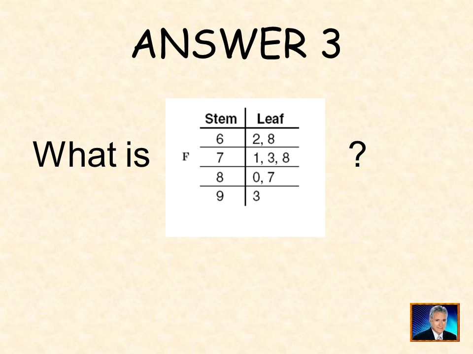 ANSWER 3 What is