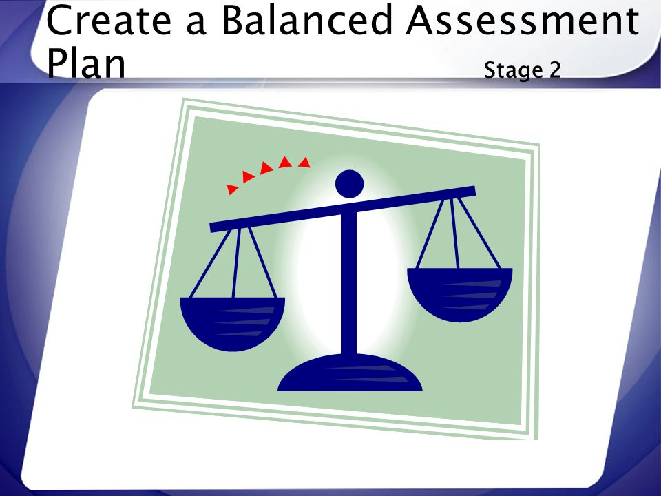 Create a Balanced Assessment Plan Stage 2
