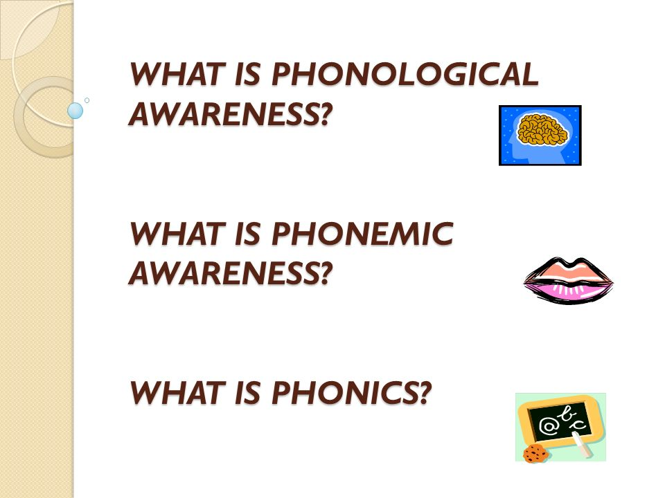 WHAT IS PHONOLOGICAL AWARENESS. WHAT IS PHONEMIC AWARENESS