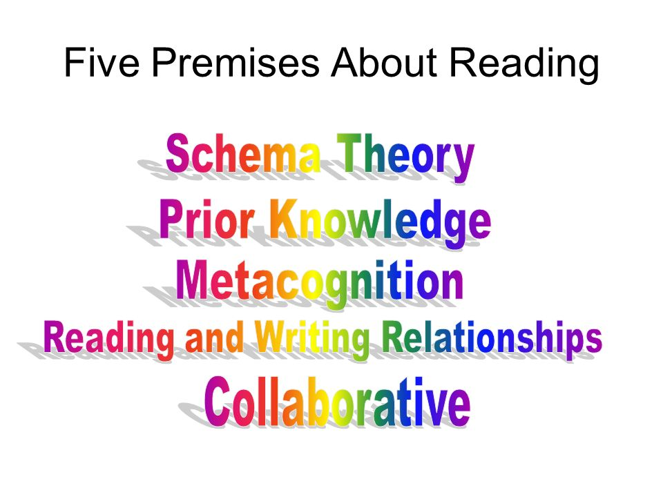 Five Premises About Reading