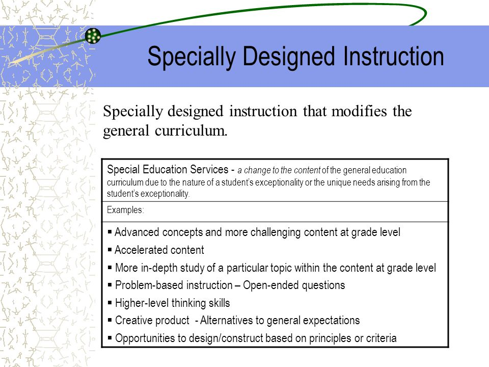 Iep Instructions For Students Identified As Gifted Ppt Download