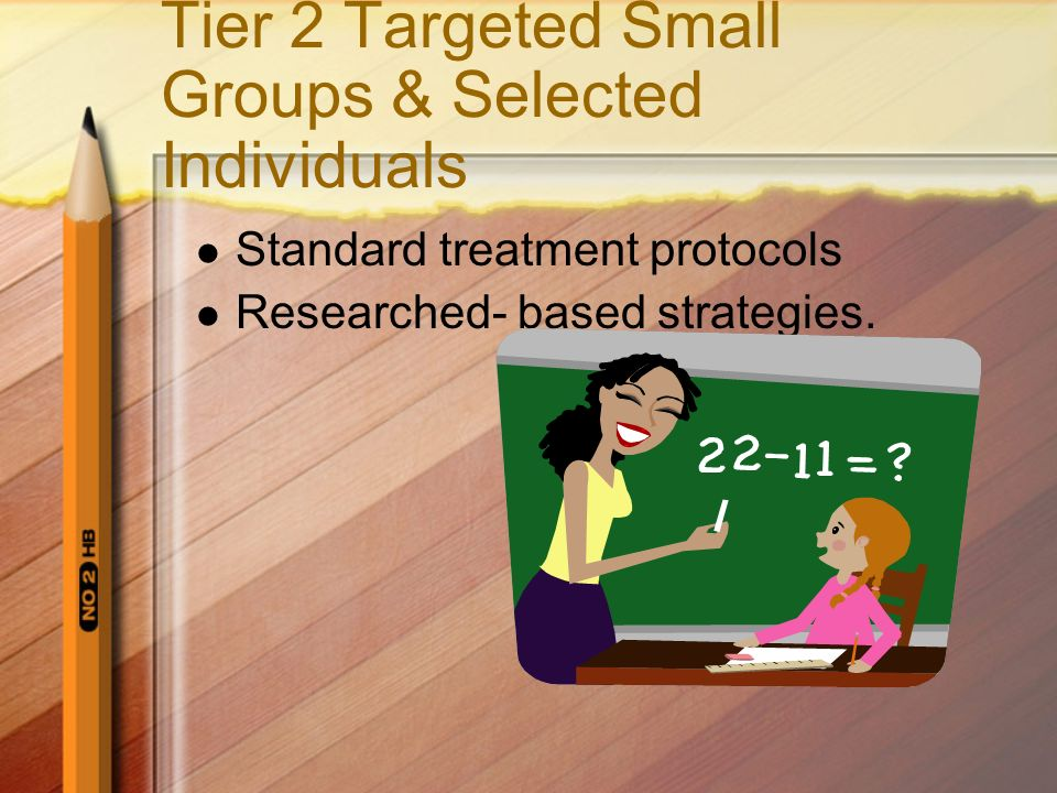 Tier 2 Targeted Small Groups & Selected Individuals