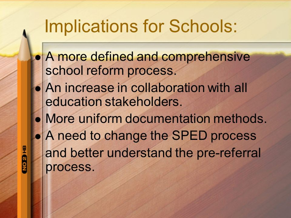 Implications for Schools: