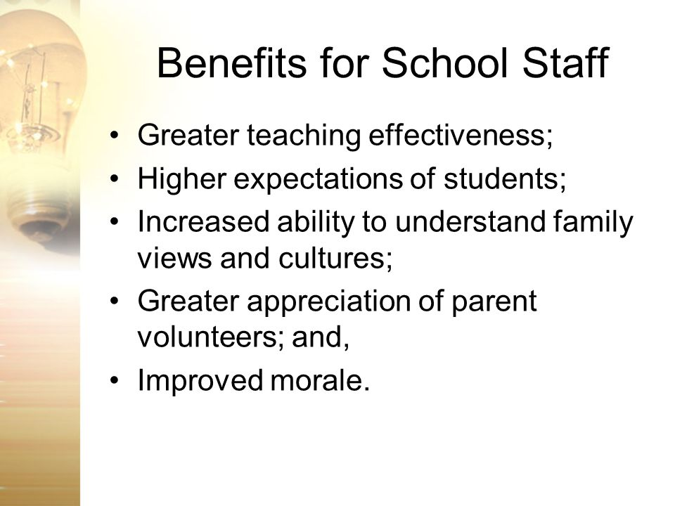 Benefits for School Staff