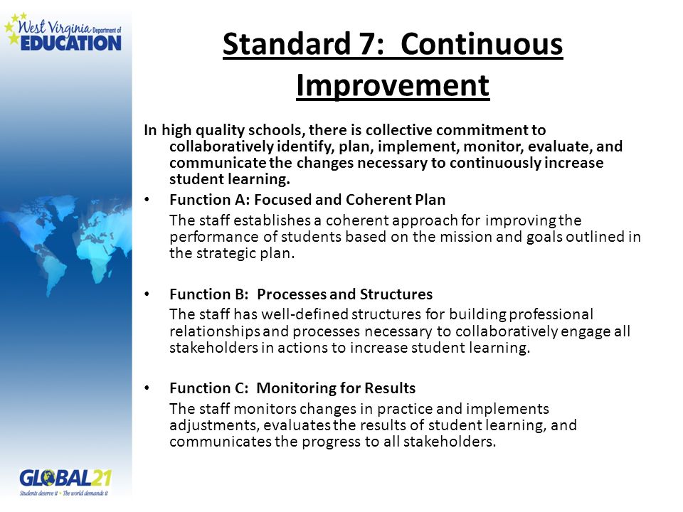 Standard 7: Continuous Improvement