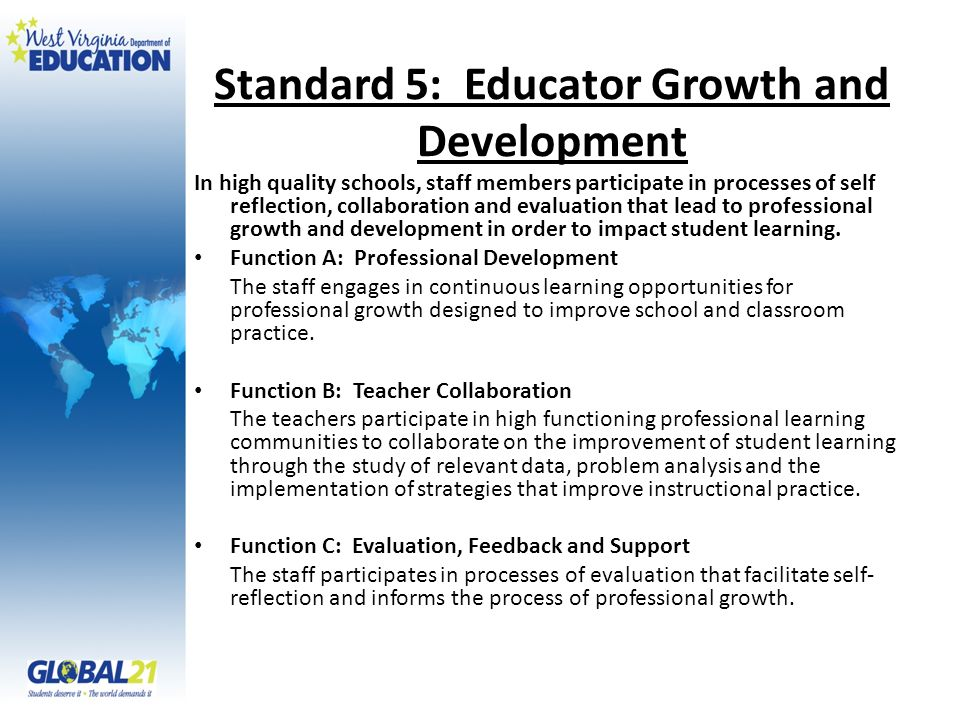 Standard 5: Educator Growth and Development