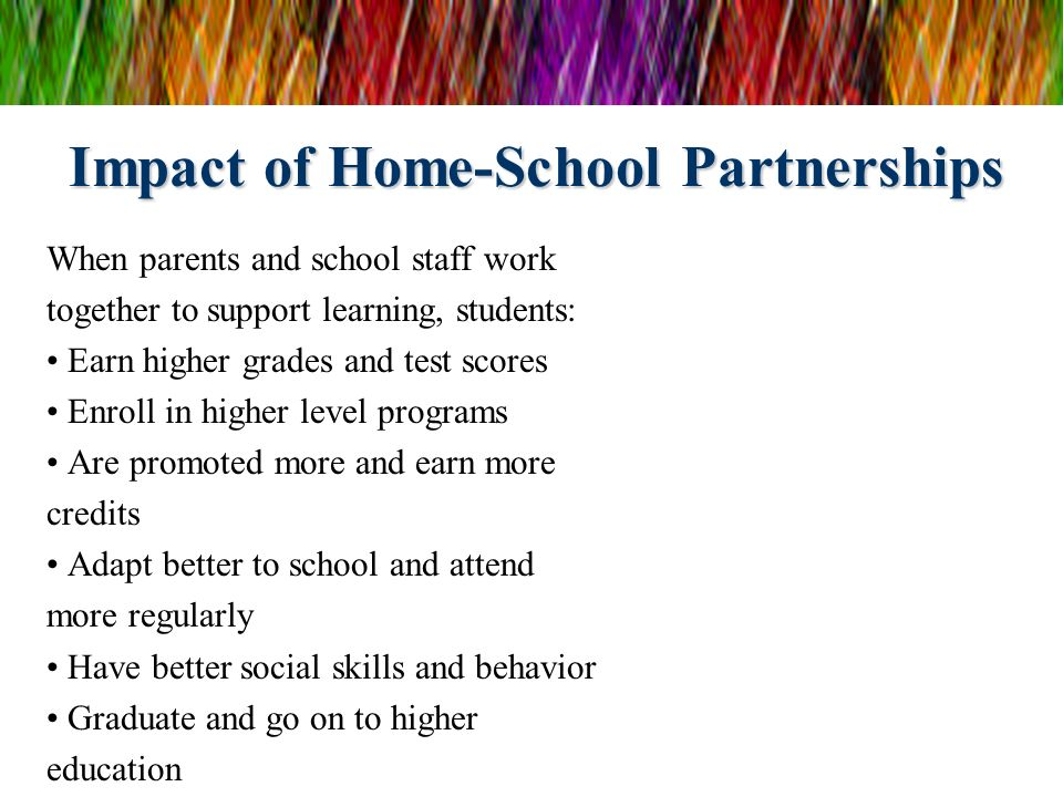 Impact of Home-School Partnerships