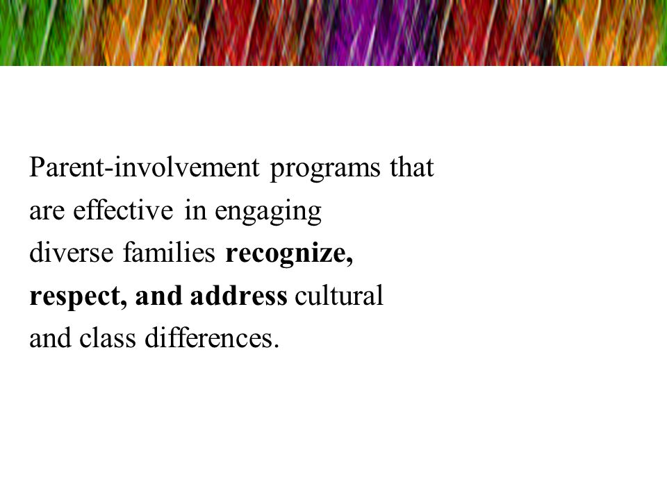 Parent-involvement programs that