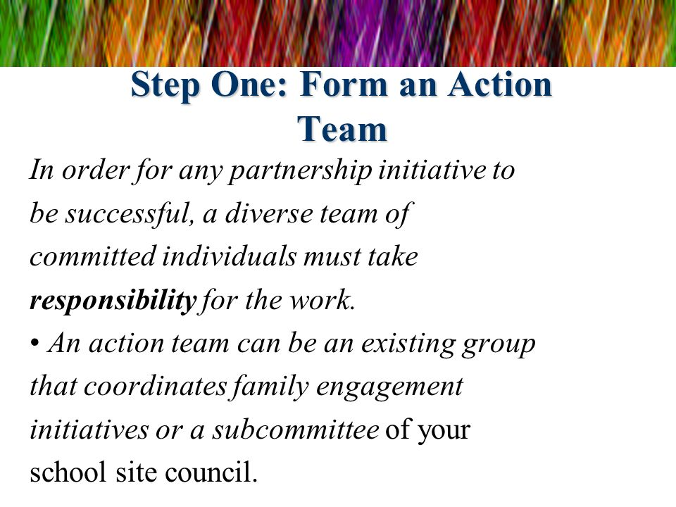 Step One: Form an Action Team
