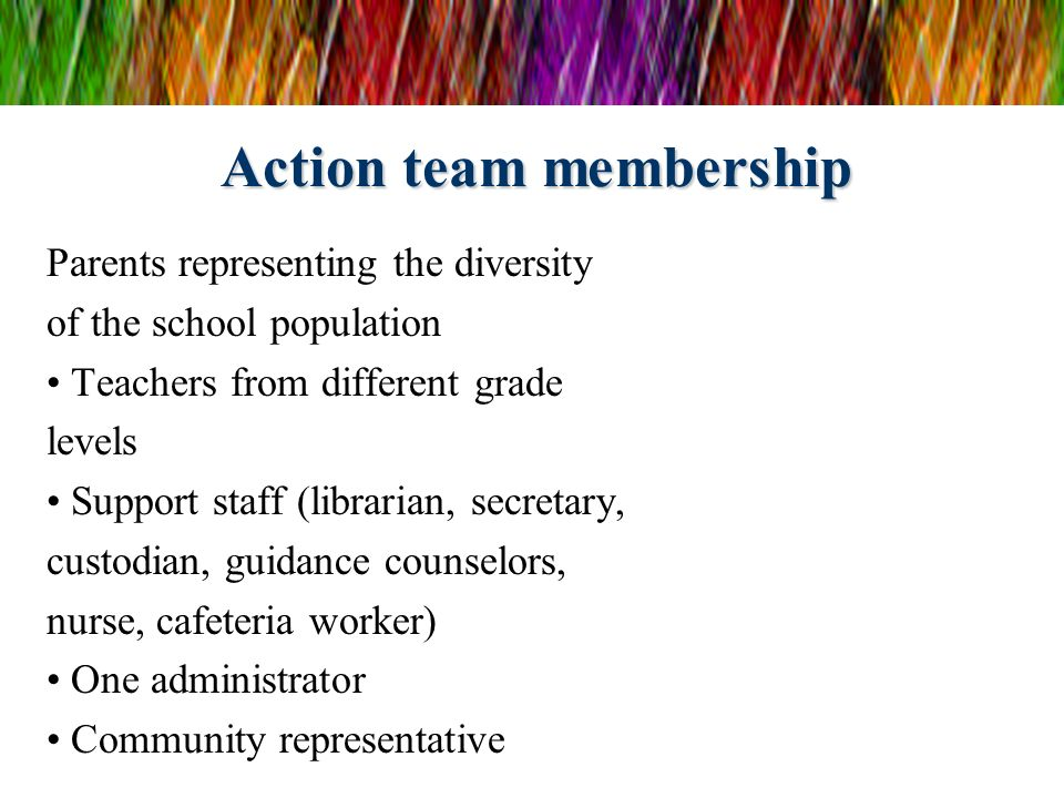Action team membership