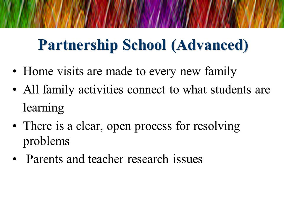 Partnership School (Advanced)
