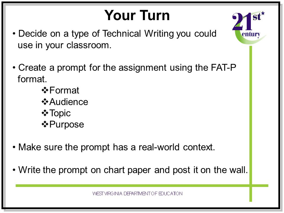 technical writing assignment