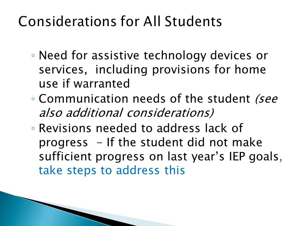 Considerations for All Students